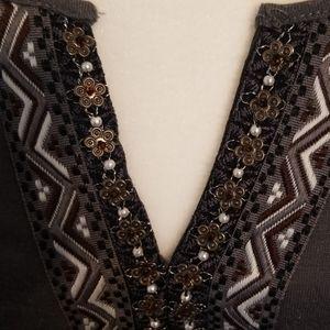 Style & Co Embellished Blouse